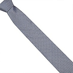 J by Jasper Conran - Navy geometric silk tie