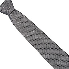 J by Jasper Conran - Black geometric silk tie