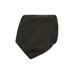 J by Jasper Conran - Black micro dot striped silk tie