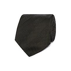 J by Jasper Conran - Black micro dot striped silk tie