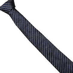 J by Jasper Conran - Navy stab stitch striped silk tie