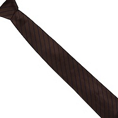J by Jasper Conran - Brown twin striped silk tie