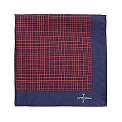 J by Jasper Conran - Navy silk tonal pattern pocket square