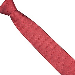 Osborne - Red geometric diamond silk tie