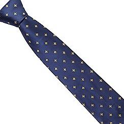 Osborne - Yellow fleur-de-lis silk tie