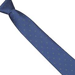Osborne - Green fleur-de-lis silk tie