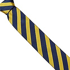 Osborne - Yellow bold striped silk tie