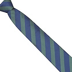 Osborne - Green bold striped silk tie