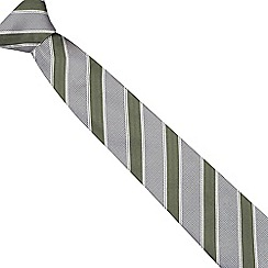 Hammond & Co. by Patrick Grant - Green textured stripe silk tie