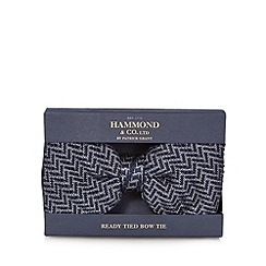 Hammond & Co. by Patrick Grant - Blue herringbone bow tie in a gift box