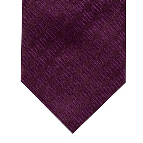 Thomas Nash - Purple rib spot tie