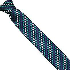 The Collection - Green textured spot print tie