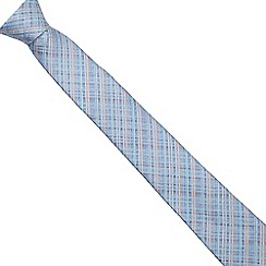 The Collection - Light blue checked slim tie