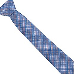 The Collection - Blue checked slim tie