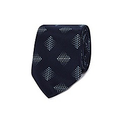 The Collection - Navy diamond dot patterned slim tie