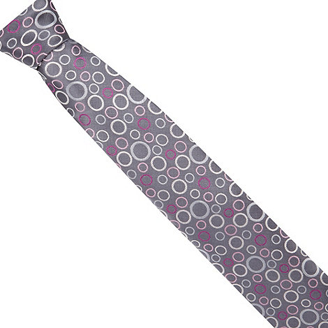 Thomas Nash - Grey textured circle tie