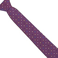 The Collection - Purple spotted slim tie