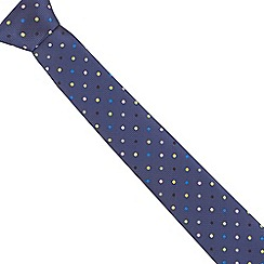 The Collection - Navy spotted slim tie
