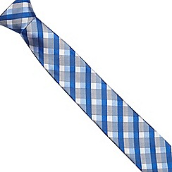 The Collection - Blue checked slim blade tie