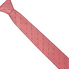 The Collection - Red chevron patterned slim blade tie