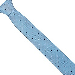 The Collection - Turquoise chevron patterned slim blade tie