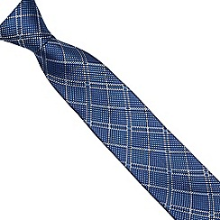 The Collection - Blue checked silk tie