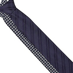 The Collection - Pack of two dark purple and navy patterned slim blade ties