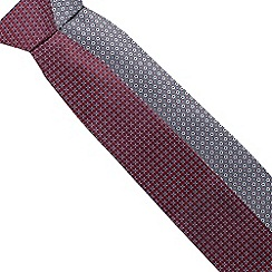 The Collection - Pack of two red and grey floral tile ties