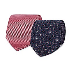 The Collection - Pack of two pink machine washable ties