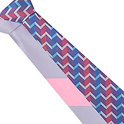 The Collection - Pack of two purple zig zag ties
