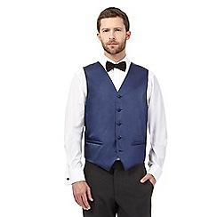 Black Tie - Navy textured line waistcoat
