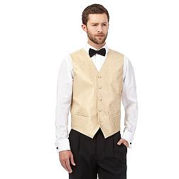 Gold jacquard waistcoat