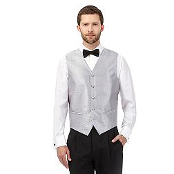 Silver jacquard waistcoat