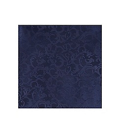 Black Tie - Navy jacquard pocket square