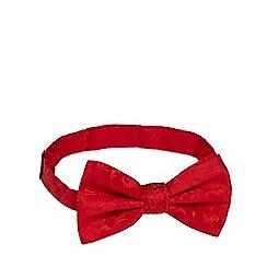 Black Tie - Red jacquard bow tie