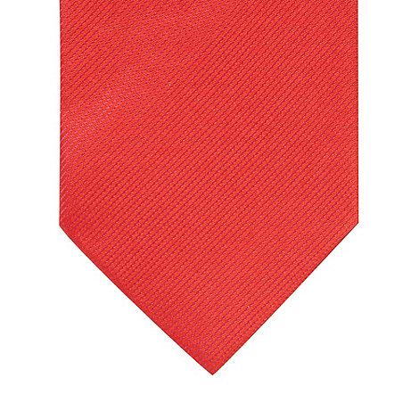 Thomas Nash - Red fine striped silk tie