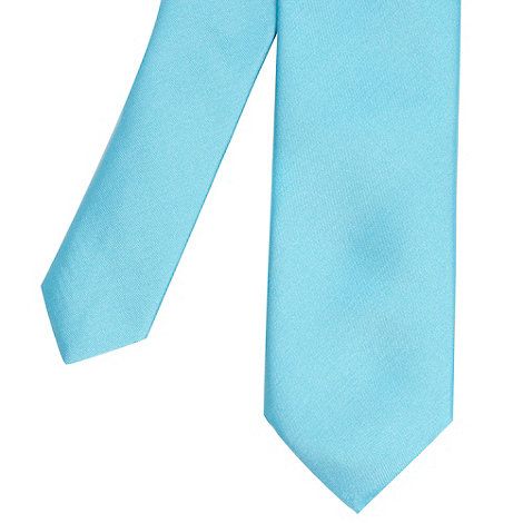 Red Herring - Turquoise plain skinny tie
