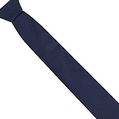Red Herring - Navy plain skinny tie