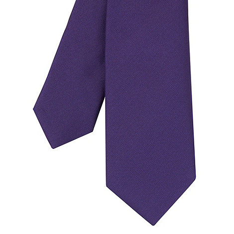 Red Herring - Purple plain skinny tie