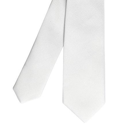 Red Herring - White plain skinny tie