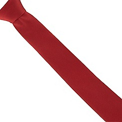 Red Herring - Red slim textured tie