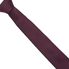 Red Herring - Purple textured skinny tie