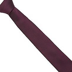 Red Herring - Purple textured skinny tie