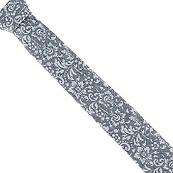 Jeff Banks - Blue textured floral slim tie