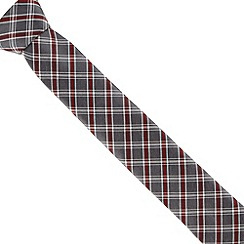 Jeff Banks - Grey diamond checked tie