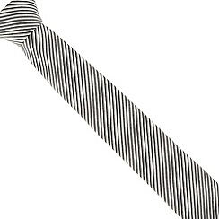 Jeff Banks - Grey fine striped tie