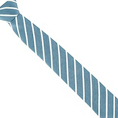 Jeff Banks - Dark turquoise striped tie