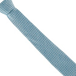 Jeff Banks - Turquoise textured dot slim tie
