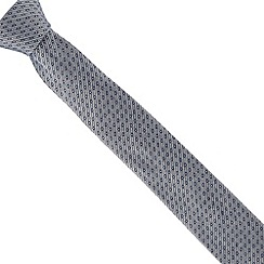 Jeff Banks - Navy zig zag tile tie