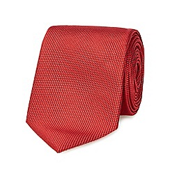 Red Herring - Red textured slim tie